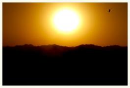 Beautiful Sunset in Fujairah Mountains