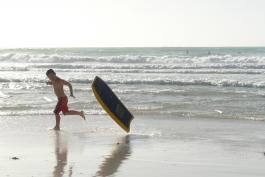 A kid on Beach of Dubai